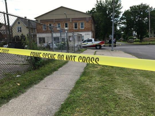A man was shot in the upper body on Reynolds Street.