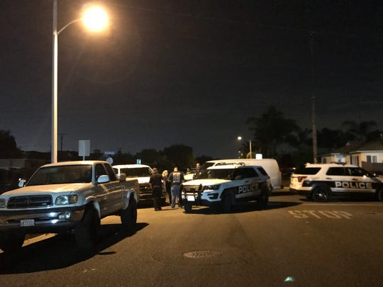 This was the scene late Wednesday as police investigated a fatal Oxnard shooting.