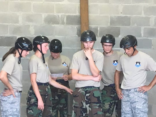 Civil Air Patrol cadets conquered the Project X obstacle challenge as part of their two-week Cadet Officer School.