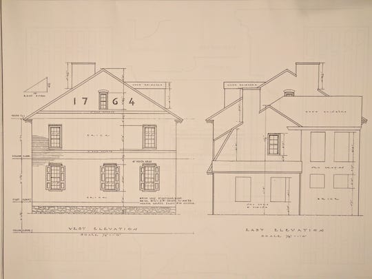 Architectural blueprints of the  Hugg-Harrison-Glover House coudl be used to build a replica of the one in Bellmawr the state tore down recently. The Works Progress Administration prepared  the blueprints of this home of a Revolutionary War captain in 1937 along with  other historic homes in the state.