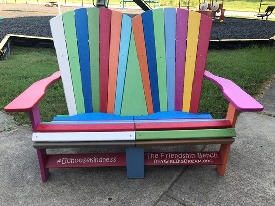 The Friendship Bench will help prevent any Dogwood student from feeling alone and is a part of the Tiny Girl, Big Dream effort, which encourages the benches be placed at every park.