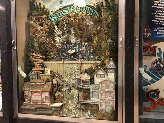 Shasta County's display inside the state Capitol is