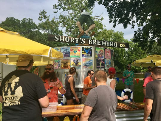 Short's Brewing Co. of Bellaire pours 16 different beers Friday, July 21, 2017 at Michigan Brewers Guild's Summer Beer Festival in Ypsilanti.