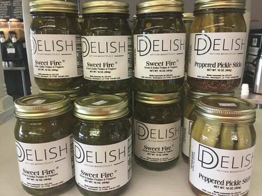 Pickled products at Delish, now open at 3240 Line Avenue