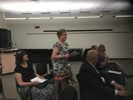 Battle Creek Public Schools board member Catherine LaValley attended Monday's Lakeview board meeting.