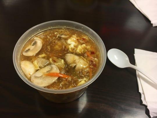 Hot-and-sour soup at China Dragon Star