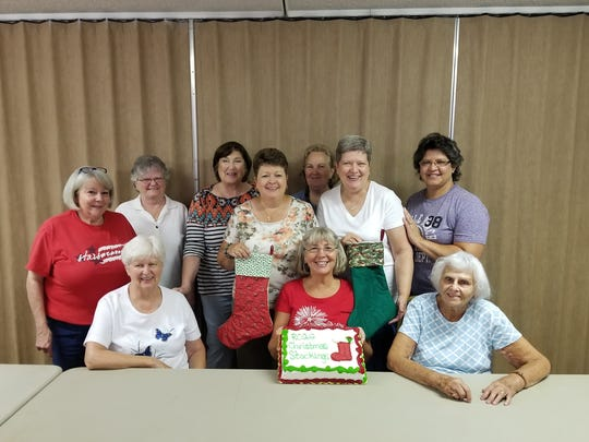 Pictured from left to right in the top row are Krista River, Francine Molenaar, Kay Duffy, Connie Rathburn, Roberta Griffie, Bonnie Hendrickson, and Kristina Jaruwannakorn. Pat Burger, Ethel Griffey, and Barbara Wilkins are in the bottom row.