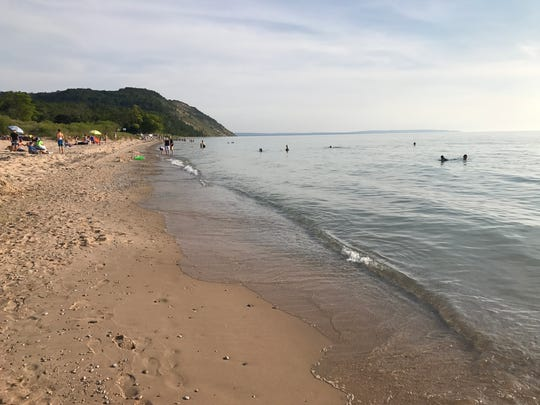 Public beach on Lake Michigan in the village of Empire.