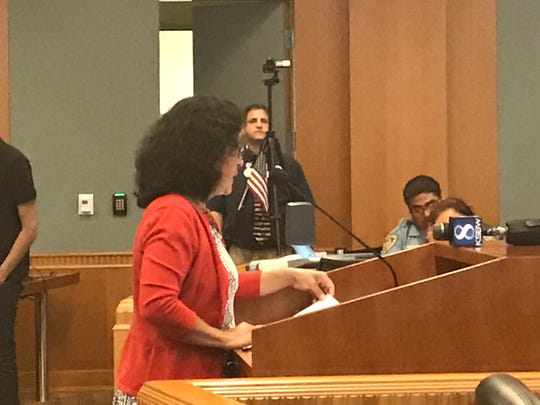 Dr. Laura Solorio, MD and president of Protect Monterey County addresses the Board of Supervisors at Tuesday's meeting