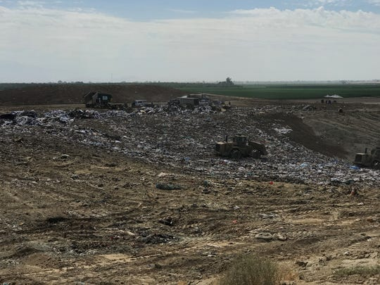 The Visalia landfill on Tuesday. County administrators say an expansion at the landfill is needed.