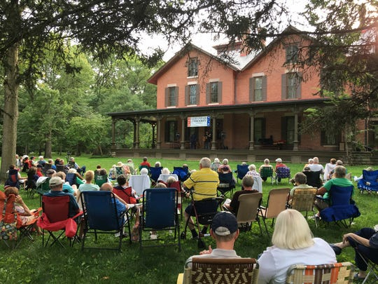 The Hayes Presidential Library and Museums hosts free concerts on the verandah of the historic Hayes house during the summer.