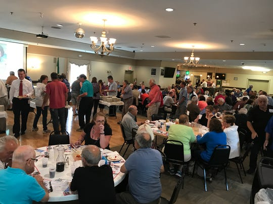 The Thursday luncheon for $15 draw over 200 people biweekly at IASC.