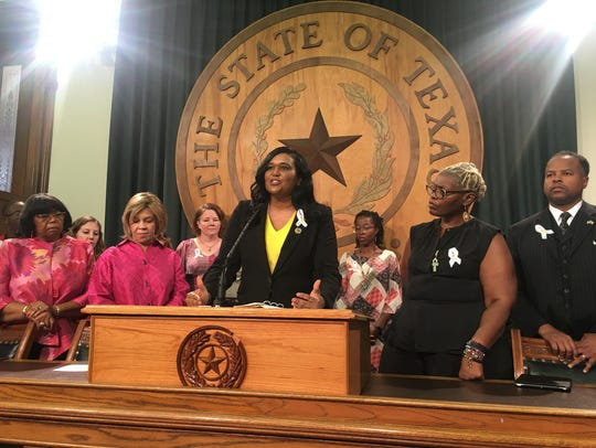 State Rep. Shawn Thierry, D-Houston, speaks about her