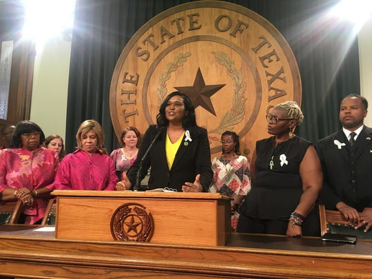 State Rep. Shawn Thierry, D-Houston, speaks about her bill to study why black women have a higher risk of pregnancy-related death than any group.
