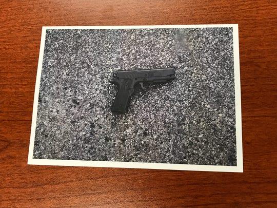An image shows the pellet gun Benoit Constant used