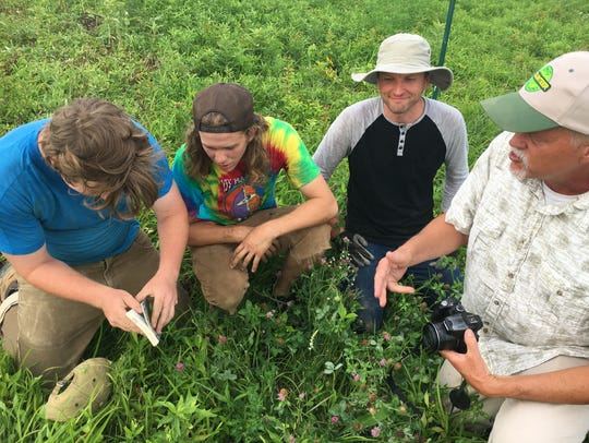Ken Carman, right, leads the effort to save wildflowers