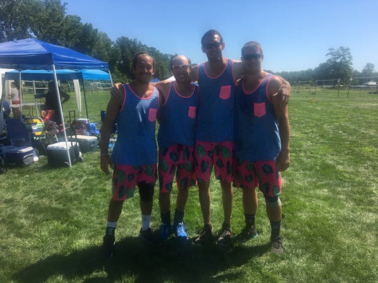 The three-time defending champions Burnside Bothsides are hoping to win the men's open division at Blue Water Volleygrass Festival.