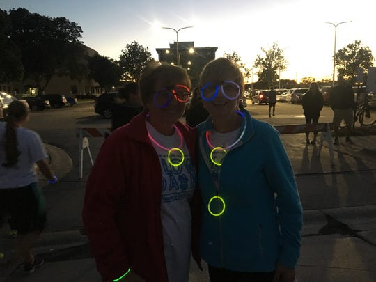 The Port Huron Recreational Department hosted the Glow Dash 2.5 Fun Run Friday night. Sisters Laurie Baker and Debbie Nelson participated in the event.