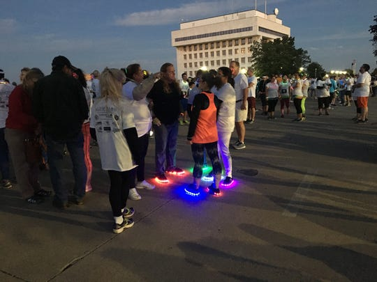 The Glow Dash 2.5 Mile Fun Run took place Friday night at Kiefer Park in Port Huron.