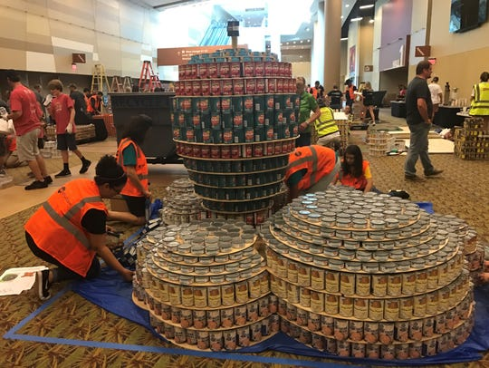 Teams participate in the eleventh annual Canstruction