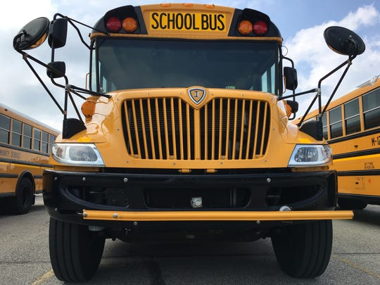 New buses await the start of classes at Muncie Community