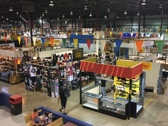Booths at the Gibraltar Trade Center in Mt. Clemens, pictured here Friday, July 28, 2017, are to be closed by Aug. 27 after the center was sold.
