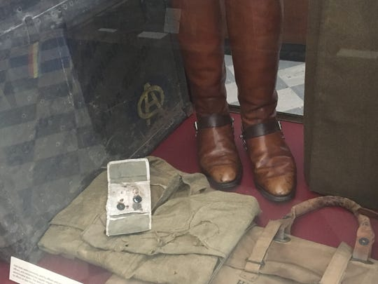 Artifacts rom one of the Rainbow Division soldiers from Alabama is located in the ADAH.