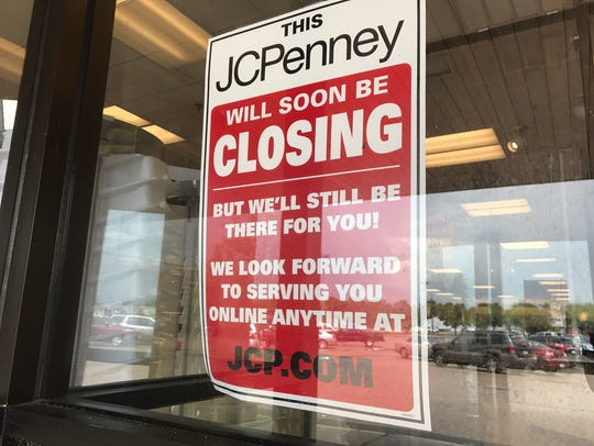J.C. Penney closed July 31, 2017 in Wisconsin Rapids.