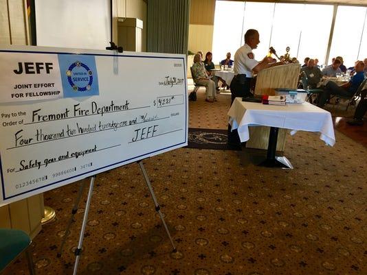 JEFF donates money to Fremont Fire Department