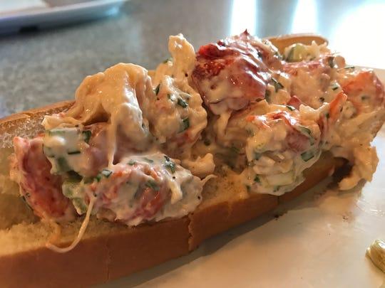 The Pittsford Wegmans serves a lobster salad roll at its Burger Bar.