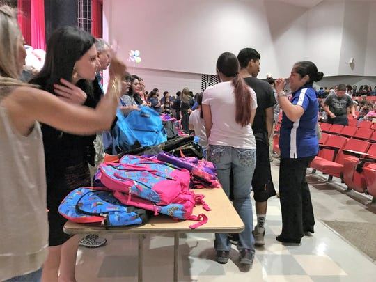 The fifth annual School Supplies Giveaway was hosted by State Representative Abel Herrero at Robstown High School. Backpacks were filled with essential school supplies.