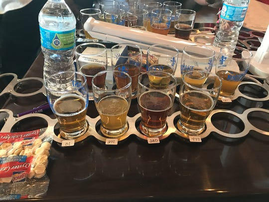 One of my tasting flights at the New York State Craft