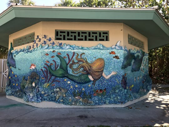 The mosaic/mural at Stuart Beach is another one of