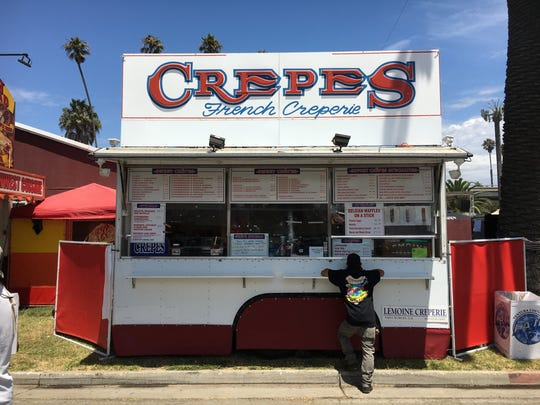 Based in Paso Robles, Lemoine Creperie is back for its third Ventura County Fair appearance. New to its menu this year are Belgian waffles on a stick, available with powdered sugar, Nutella, fresh strawberry sauce, or bacon with maple syrup.