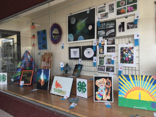 4-H Youth Art Projects from this year's Fond du Lac County Fair will be on display in Gallery & Frame Shop until Aug. 30. Pictured are some of the projects.