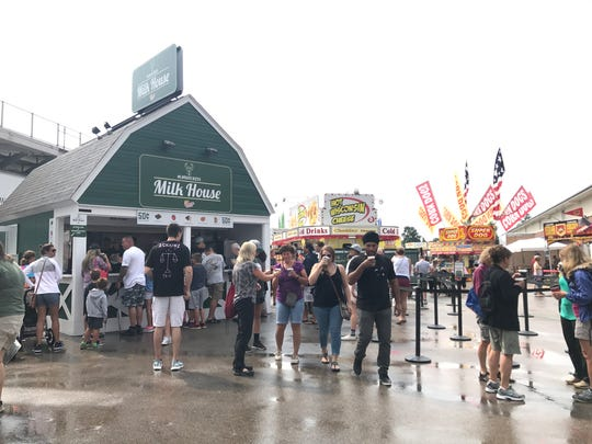 The Milk House at the Wisconsin State Fair is always a huge hit, as it's a Wisconsin tradition.