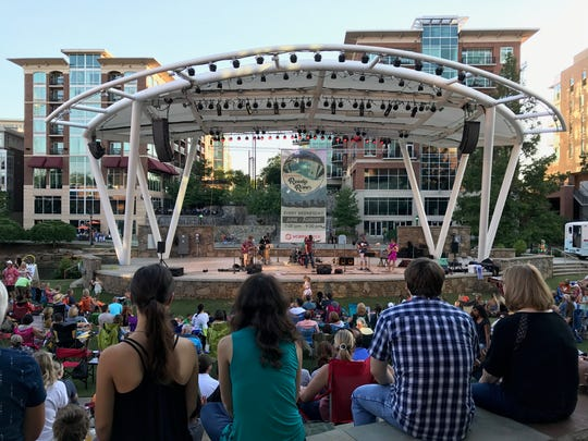 Greenville has plenty of Instagram hot spots. One that is popular, especially on Tuesdays and Wednesdays during the summer, is the Peace Center Amphitheater.