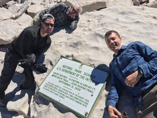 California's Mount Whitney is the highest peak in the