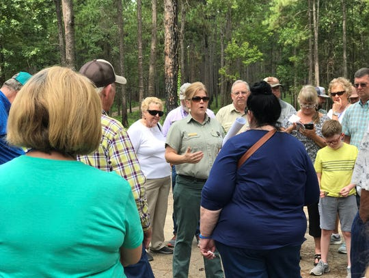 Lisa Lewis, a supervisor with the Forest Service, talks