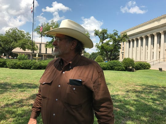 Dwain Morrison, former mayor of San Angelo, attended the Property Tax Reform rally Friday.