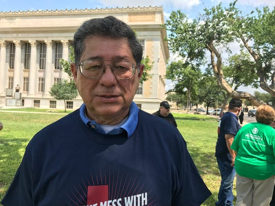 Fred Contreras, with the TGC/San Angelo Pachyderm, added his voice to the call forproperty tax.
