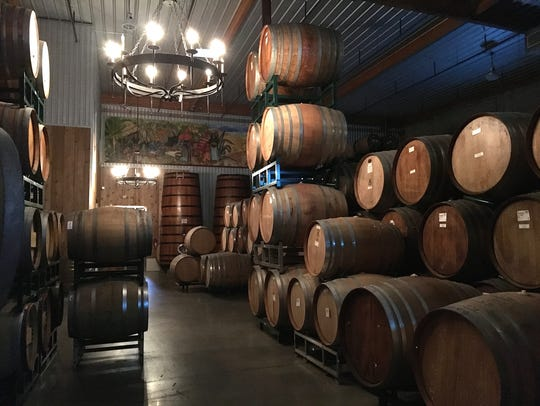 Barrels contain beer, not wine, at Barrelworks, the