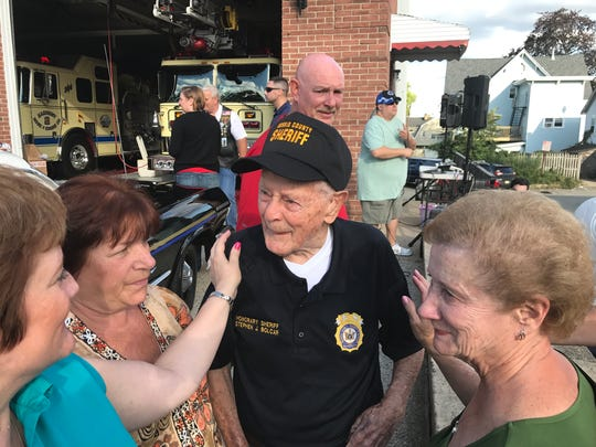 A 100th birthday celebration was held at Johnnies Tavern