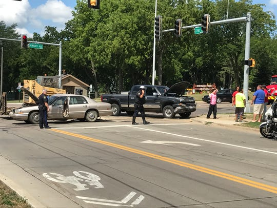 The scene of a crash at South Kiwanis Avenue and West