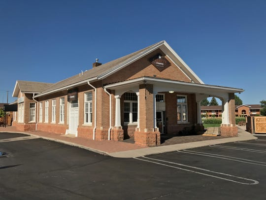 Palette Creamery is located in the historic train depot
