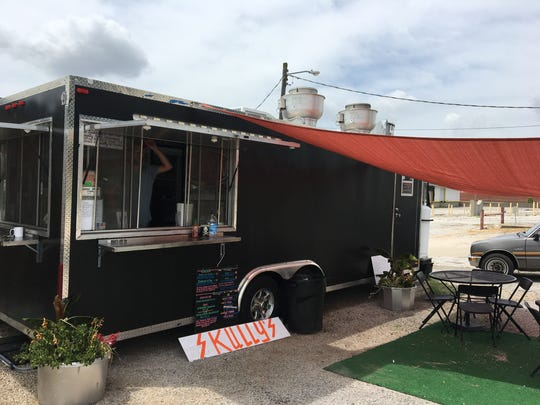 Skully's Food Truck is shown at its former location on West Tampa Street July 26, 2017. It has since moved to the grounds of White River Brewing Company on Commercial Street.