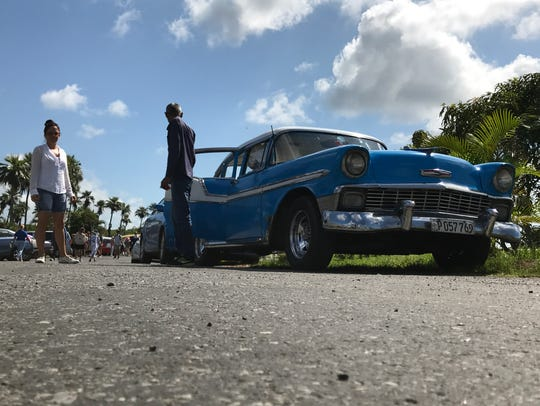 Shooting this classic car in Cuba from a low angle