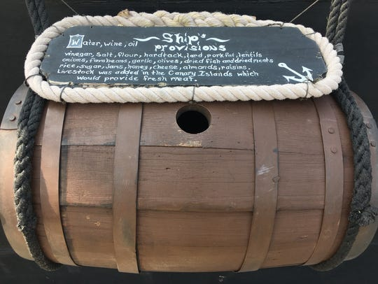 This is a replica of a barrel that would have been