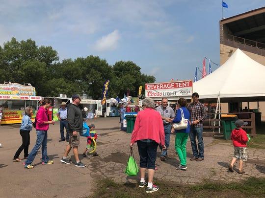 Tim Bjorkman greets attendees at the Sioux Empire Fair.