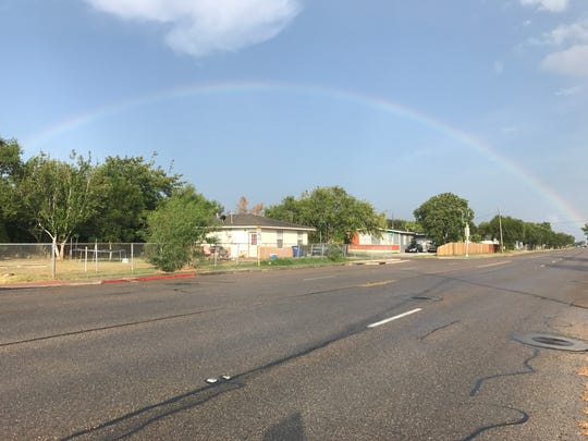 #VivaCC: Caught this beautiful rainbow over Gollihar this morning. Did you see it too?
